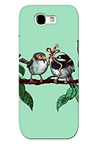 Flexible Tpu Back Case Cover For Galaxy Note 2 - Animal Bird