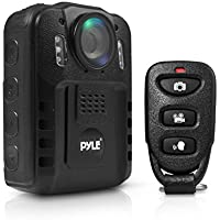Pyle PPBCM9 Compact Portable HD 1080p 8MP Body Police Camera IR Night Vision LCD Display 16gb Internal Memory