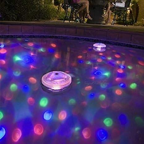 Lianqi Luz impermeable de la piscina de la piscina se enciende con 5 diverso color de la iluminación Modo, flotando en el agua para la piscina de la ...