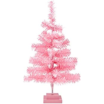 plum and punch artificial light pink holiday miniature christmas holiday tree