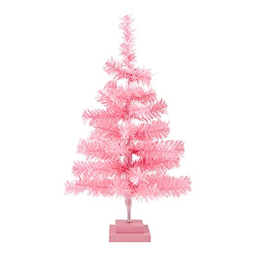 Plum and Punch Artificial Light Pink Holiday Miniature Christmas / Holiday Tree by Plum and Punch
