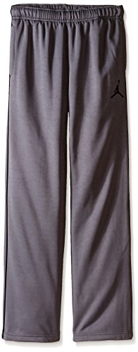 Boys Youth Nike Air Jordan Therma Fit Track Pants (Large, Grey/Black) (Boys Nike Pants)
