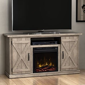farmhouse fireplace - 1