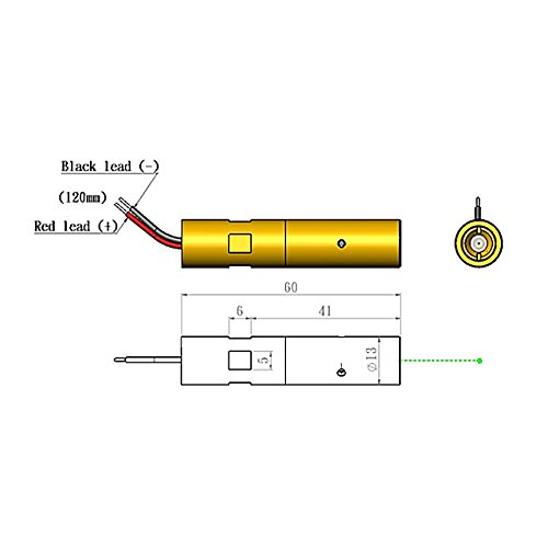 Quarton Laser Module VLM-532-43 LPA (INDUSTRIAL USE GREEN LASER) by Quarton (Image #1)