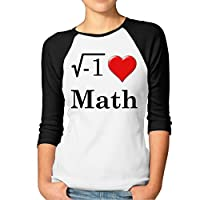 Women's I Love Math Raglan Sleeves Baseball Shirts