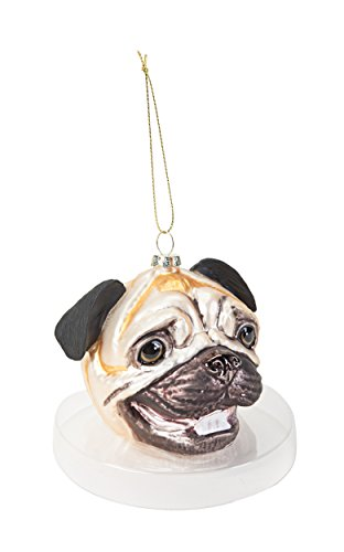 Accoutrements Pug Head Ornament
