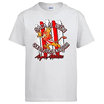 Camiseta saca el León que llevas dentro Bilbao fútbol Athletic - Blanco, 3-4 años