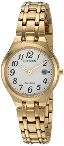 Citizen Women's 'Eco-Drive' Quartz Stainless Steel Casual Watch, Color:Two Tone (Model: EW2482-53A)