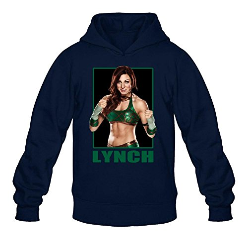 YangJJ Men's Becky Lynch Combat Queen Hoodied Sweatshirt Size XL Royal Blue