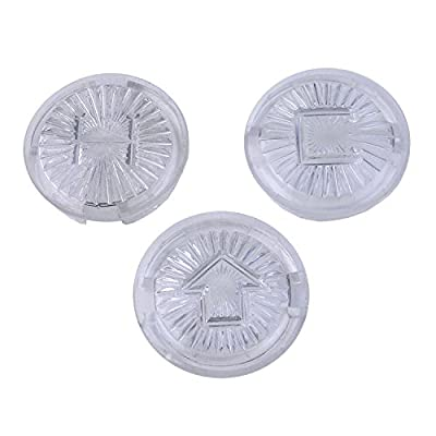 LASCO 0-6141 Hot/Cold/Diverter Faucet Handle Index Buttons for Nibco and Brands, Acrylic