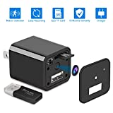 Home Surveillance Charger Camera 1080P Motion Detection Wall Adapter Camera Loop Recording 32GB -No WiFi Needed -2019 Version