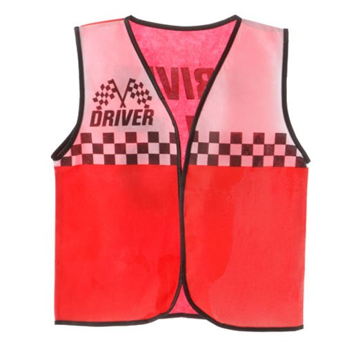 ToySource Dress Up Vest - Non Woven - Race Car Driver - Red/White Costume -