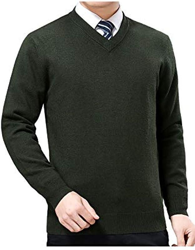 Fanvans męski sweter z dzianiny, długie rękawy, szyję, wygodny loki, sweter: Odzież