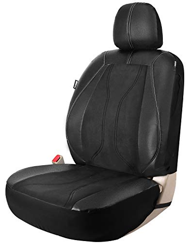 Leader Accessories Manual Coupe Vinyl Car Interior Front Seat Cover Faux Leather with Airbag for Car Trucks