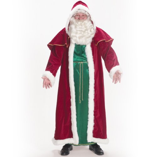 Halco Mens Victorian Santa Adult Costume Red Standard One-size (Costume Victorian)
