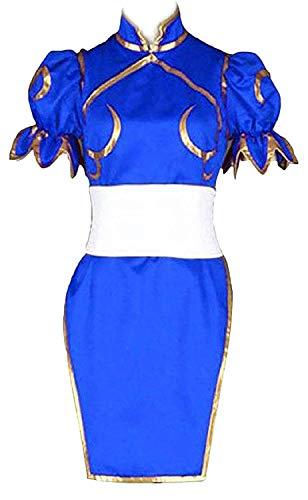 LYLAS Women's Cosplay Costume Blue Cheongsam Superior Combat