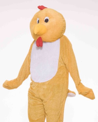 - Forum Deluxe Plush Chicken Mascot Costume, Yellow, One Size