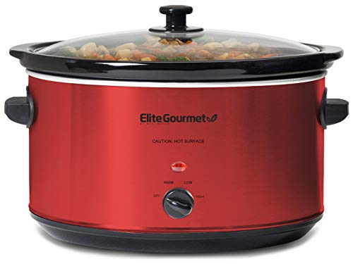 Elite Gourmet MST-900RXT Electric Ceramic XL Jumbo Slow Cooker Adjustable Temp, Entrees, Sauces, Stews & Dips…