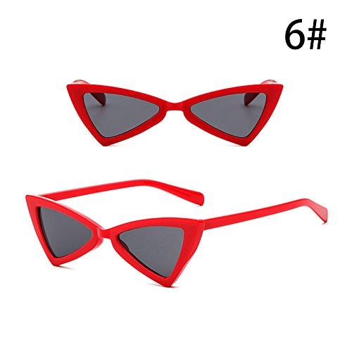 de la de Moda G Sol Retro Triángulo F Exterior Gafas Mujeres Accesorios Gafas Vintage ZHANGYUSEN Anti de de UV Personalidad 5fxEwCq