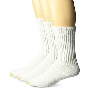 Gold Toe Men's Ultra Tec Performance Crew Atheltic Socks, 3-Pack