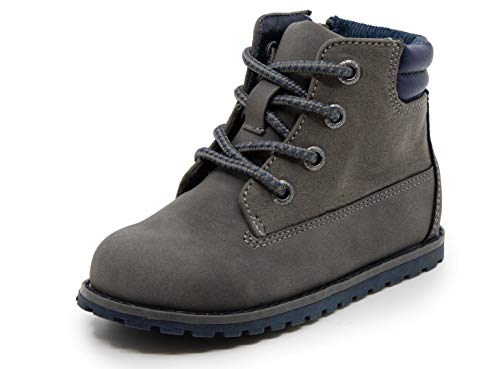 Nautica Kids Boys Chukka Boot Lace-Up and Zipper Bootie Toddler Little Kids-Daven-Wild Grey-11