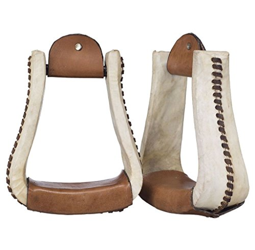 Royal King Rawhide Deep Roper Stirrups – Light/oil