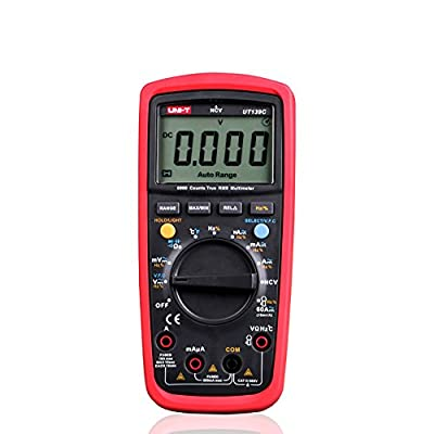 "UNI-T UT139C True RMS 2.6"" LCD Digital Multimeter Electrical Handheld Tester Multimetro LCR Meter Ammeter Multitester"