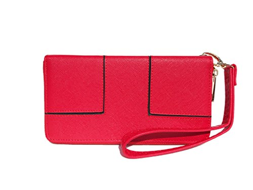 Ferrarany Leather Wallets All Your Essentials With Removable Wristlet Clutch