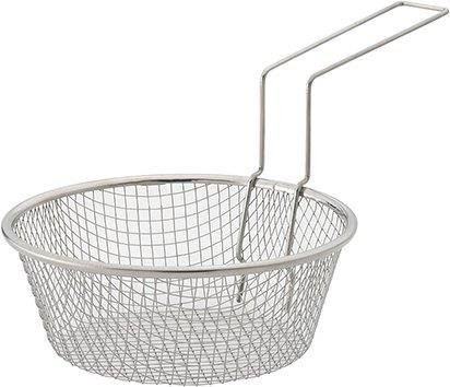 HIC Harold Import Co. 30019 HIC Fry Basket, 18/8 Stainless Steel 7-Inches Metallic (Fry Baskets)