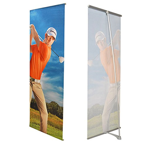 Displayfactory USA Frameless L Banner (Frameless Graphic Stand 24x72''in) by Displayfactory USA