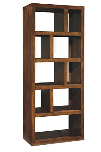 - Ashley Furniture Signature Design - Lobink Bookcase - 9 Storage Different Size Cubbies - Brown Finish