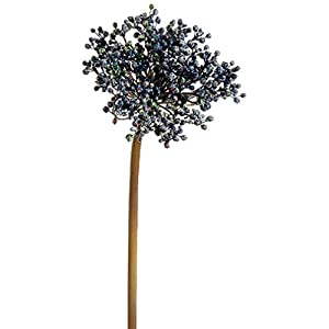 "24"" Silk Allium Bud Flower Spray -2 Tone Blue (Pack of 12) 26"