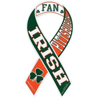 Ribbon Magnet Irish Pittsburgh Fan