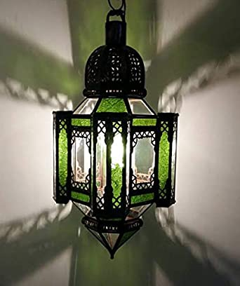 Farol marroquí puntiagudo 72 cm en varios colores oriental para jardín - Farol de metal marroquí como farol de jardín, o interior como farol de mesa: Amazon.es: Iluminación