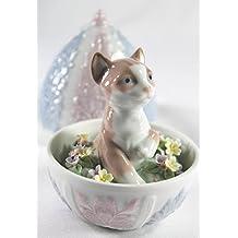 "Lladro Collectible Figurine ""Kitty Surprise"" Retired Glazed Finish"