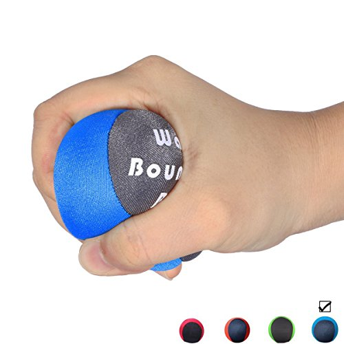 Stress Ball Gel Squeeze Ball Hand Therapy Optimal Stress Relief - Great (High Bounce Glitter)