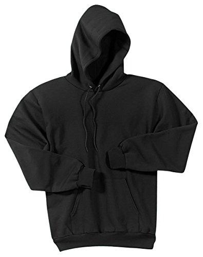 Port & Company Men's Classic Pullover Hooded Sweatshirt L Jet Black