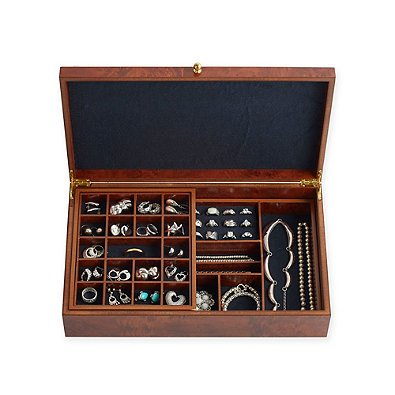 Slim Safekeeper Jewelry Box Burlwood by Lori Greiner