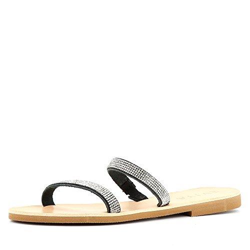 Evita Shoes Greta - Sandalias de vestir de Piel para mujer gris oscuro