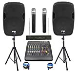Complete Professional 2000 Watts PA System 6 Ch