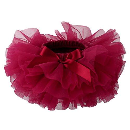 Slowera Baby Girls Soft Tutu Skirt (Skorts) 0 to 36 Months (M: 6-12 Months, Wine Red) -