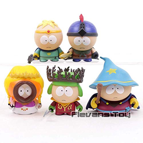 Kyle Cartman Kenny Stan Butters Jimmy South Park The Stick of Truth PVC Action Figure Collectible Toys 5pcs/Set (Figure Spider Man Stick)