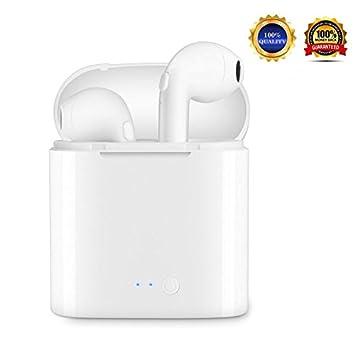 Auriculares Bluetooth, i7 Auriculares Bluetooth Inalámbrico con estuche de carga Auriculares intrauditivos con micrófono,