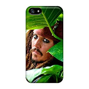 Awesome Jonny Deep Jack Sparrow Movies Flip Case With Fashion Design For Iphone 5/5s