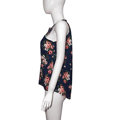 Culater® Femmes Floral Vest Top Blous manches Blousons Décontractés T-Shirt