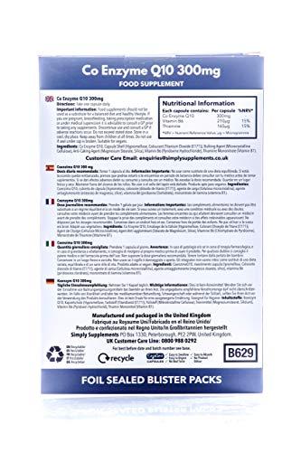 Coenzima Q10 300mg Ubiquinona - 60 cápsulas - Hasta 2 meses de suministro - Aumenta los niveles de energía - SimplySupplements: Amazon.es: Salud y cuidado ...