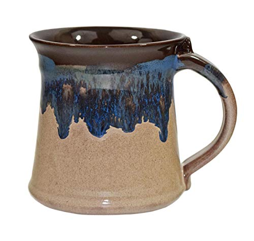 Clay in Motion 16 oz Mug - Medium Handmade Pottery Ceramic Coffee Cup - Chocolate Mudslide