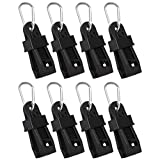 XiangCheng 8Pcs Large Tarp Clips with D-Shaped Carabiner Hanging Hook For Awning Clamp Tent Outdoor Camping Canopy Windproof