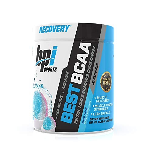 BPI Sports Best BCAA - BCAA Powder - Branched Chain Amino Acids - Muscle Recovery - Muscle Protein Synthesis - Improved Performance - Hydration - Snow Cone - 30 Servings - 10.58 oz. ()