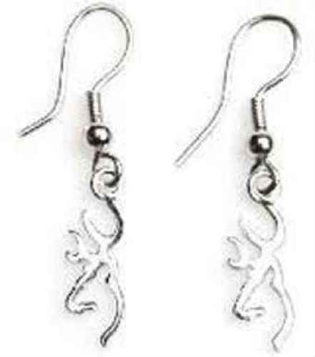 Browning Buckmark Sterling Silver Drop Earrings by Browning
